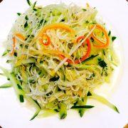 凉拌金针菇Salade de champignons enoki (2)
