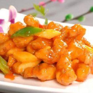 菠萝咕咾肉 Filet du porc sauté avec ananas