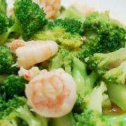 西兰花炒虾仁crevettes sauté avec brocolis