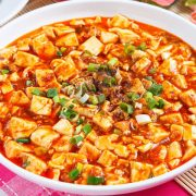 麻婆豆腐Tofu sauté avec sauces épicées